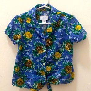 Old Navy Toddler Pineapple Resort Shirt